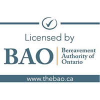 Licensed by the Bereavement Authority of Ontario badge